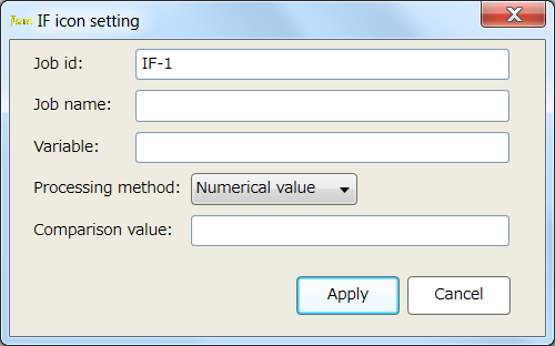 Conditional Branch Setting